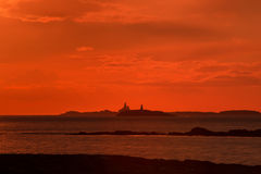 The Skerries Lighthouse. Stock Photography