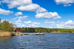 Skerries suédois de mer Images libres de droits