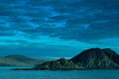 Skerry in Bering Overzees Stock Foto