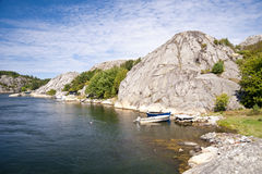 Skerry Island of Flatoen Royalty Free Stock Photos