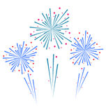 Sketch Abstract Colorful Exploding Firework Royalty Free Stock Photos