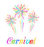 Sketch abstract colorful exploding firework for Ca. Illustration sketch abstract colorful exploding firework for Carnival party - vector Stock Photos