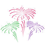 Sketch for abstract colorful firework Stock Images
