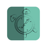 Sketch of alarm clock in square frame Royalty Free Stock Photography