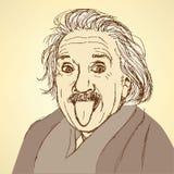 Sketch Albert Einstein in vintage style Stock Photo
