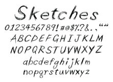 Sketch alphabet Stock Images