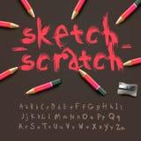 Sketch alphabet Royalty Free Stock Photography