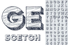 Sketch alphabet Royalty Free Stock Images