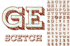 Sketch alphabet Stock Image