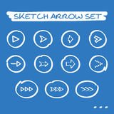 Sketch arrow set Royalty Free Stock Photography