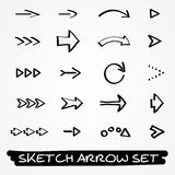 Sketch arrow set Stock Image