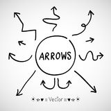 Sketch arrows  set, Illustration EPS10. Great for any use Stock Image