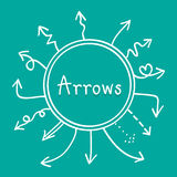 Sketch arrows vector set, Illustration EPS10. Great for any use Royalty Free Stock Photo