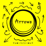 Sketch arrows vector set, Illustration EPS10. Great for any use Stock Images