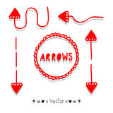 Sketch arrows vector set, Illustration EPS10. Great for any use Royalty Free Stock Photos