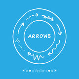 Sketch arrows vector set, Illustration EPS10. Great for any use Royalty Free Stock Image