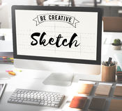Sketch Art Design Drawing Idea Plan Product Style Concept Royalty Free Stock Images
