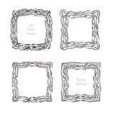 Sketch Art frame decorative Stock Photos