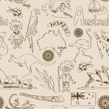 Sketch Australia seamless pattern Royalty Free Stock Photography