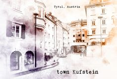 Sketch of Austrian travel Stock Photo