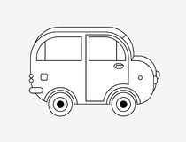 Sketch of automobile. A black and white sketch of the outline of an automobile Stock Photos