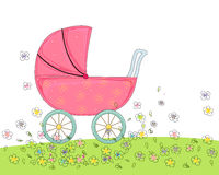Sketch baby carriage Royalty Free Stock Images