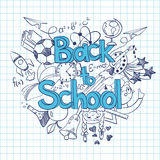 Sketch Back to School Background. Stock Photo