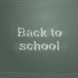 Sketch back to school on greenboard Royalty Free Stock Image