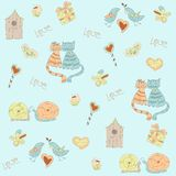Sketch background. love theme Royalty Free Stock Photo