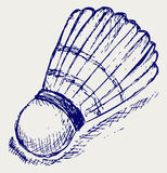 Sketch badminton ball. Doodle style. Vector Royalty Free Stock Image