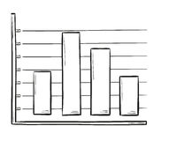 Sketch of the bar chart Stock Photography