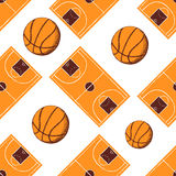 Sketch basketball seamless pattern Stock Photography