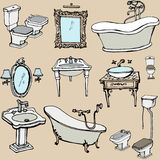 Sketch for the bathroom 1. Sketch set for the bathroom in a classic style Royalty Free Stock Photo