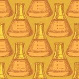 Sketch beaker in vintage style Stock Images