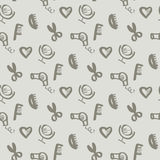 Sketch beauty style icon seamless pattern. Royalty Free Stock Image