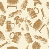 Sketch beer pattern Royalty Free Stock Photo