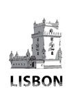 The sketch of Belem Tower in Lisbon Royalty Free Stock Image