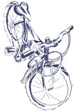 Sketch bicycle foreshottering Stock Images