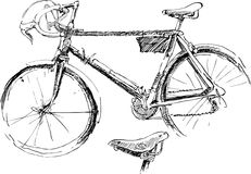 Sketch of bicycle Stock Image