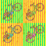 Sketch bicycle, vector vintage background Royalty Free Stock Photography