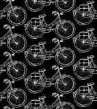 Sketch bicycle,  vintage seamless pattern Royalty Free Stock Photo