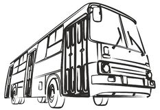 Sketch of big bus. Stock Photography