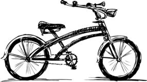 A sketch of a bike for a stroll royalty free illustration
