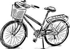 Sketch of a bike Royalty Free Stock Photo