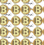Sketch of bitcoin. vector illustration Royalty Free Stock Photography