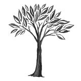 Sketch of black tree Royalty Free Stock Image