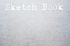 Sketch book Stock Image