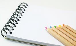 Sketch book color pencil Stock Images