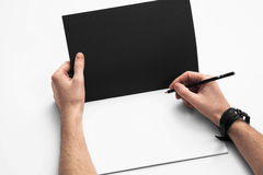Sketch book mockup Stock Photos