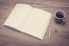 Sketch book mockup Stock Photography